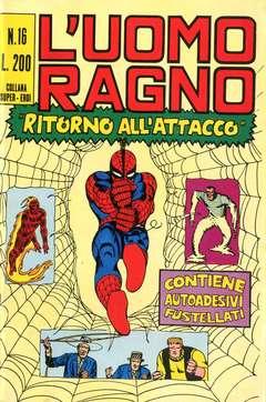 Copertina UOMO RAGNO n.16 - UOMO RAGNO CON POSTER E ADESIVI   16, CORNO EDITORIALE