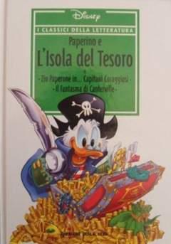 Copertina CLASSICI DELLA LETTERATURA DIS n.11 - Paperino e l'isola del tesoro, CORRIERE DELLA SERA