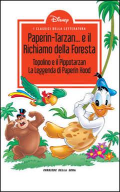 Copertina CLASSICI LETT.DISNEY II SERIE n.8 - Paperin-Tarzan... e il richiamo della foresta, CORRIERE DELLA SERA