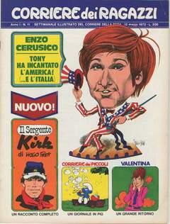 Copertina CORRIERE DEI RAGAZZI 1972 n.11 - CORRIERE DEI RAGAZZI 1972   11, CORRIERE DELLA SERA