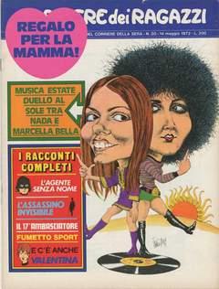 Copertina CORRIERE DEI RAGAZZI 1972 n.20 - CORRIERE DEI RAGAZZI 1972   20, CORRIERE DELLA SERA
