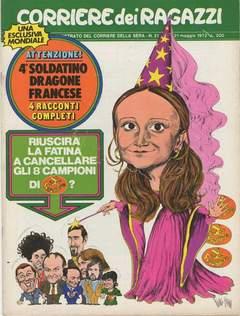 Copertina CORRIERE DEI RAGAZZI 1972 n.21 - CORRIERE DEI RAGAZZI 1972   21, CORRIERE DELLA SERA