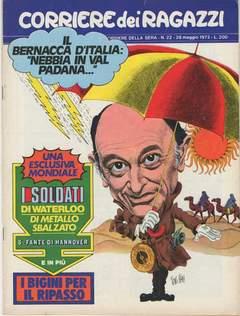 Copertina CORRIERE DEI RAGAZZI 1972 n.22 - CORRIERE DEI RAGAZZI 1972   22, CORRIERE DELLA SERA