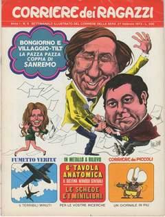 Copertina CORRIERE DEI RAGAZZI 1972 n.9 - CORRIERE DEI RAGAZZI 1972    9, CORRIERE DELLA SERA