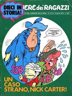 Copertina CORRIERE DEI RAGAZZI 1973 n.13 - NEMERO 13/14, CORRIERE DELLA SERA