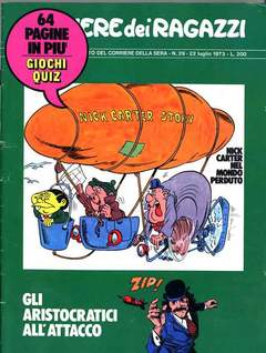 Copertina CORRIERE DEI RAGAZZI 1973 n.29 - CORRIERE DEI RAGAZZI 1973   29, CORRIERE DELLA SERA
