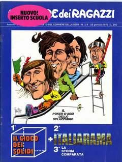 Copertina CORRIERE DEI RAGAZZI 1973 n.3 - NUMERO 3/4, CORRIERE DELLA SERA