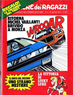 Copertina CORRIERE DEI RAGAZZI 1974 n.4 - CORRIERE DEI RAGAZZI 1974    4, CORRIERE DELLA SERA