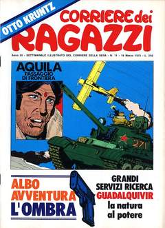 Copertina CORRIERE DEI RAGAZZI 1975 n.11 - CORRIERE DEI RAGAZZI 1975   11, CORRIERE DELLA SERA