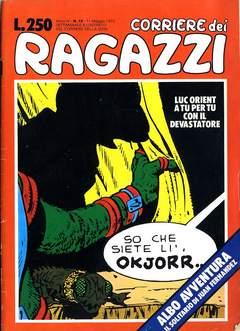Copertina CORRIERE DEI RAGAZZI 1975 n.19 - CORRIERE DEI RAGAZZI 1975   19, CORRIERE DELLA SERA