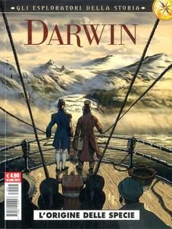 Copertina ESPLORATORI DELLA STORIA n.2 - DARWIN: L'ORIGINE DELLA SPECIE, COSMO EDITORIALE