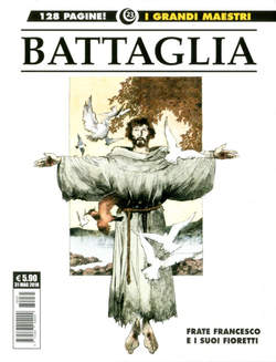 Copertina GRANDI MAESTRI n.23 - DINO BATTAGLIA: FRANCESCO D'ASSISI, COSMO EDITORIALE
