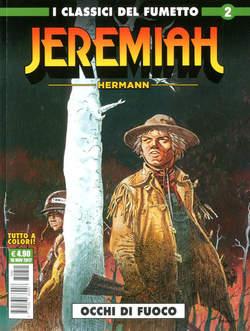 Copertina JEREMIAH n.2 - OCCHI DI FUOCO, COSMO EDITORIALE