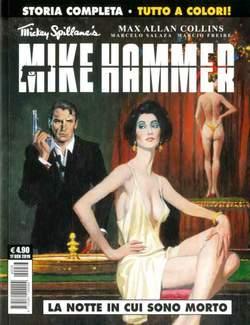 Copertina MIKE HAMMER n.1 - LA NOTTE IN CUI SONO MORTO, COSMO EDITORIALE