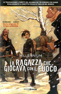 Copertina MILLENNIUM (m3) n.2 - LA RAGAZZA CHE GIOCAVA CON IL FUOCO, COSMO EDITORIALE