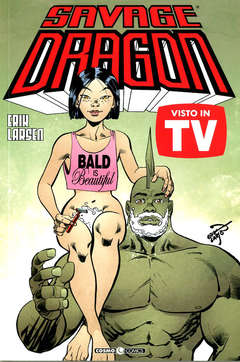 Copertina SAVAGE DRAGON Inediti n.40 - VISTO IN TV!, COSMO EDITORIALE