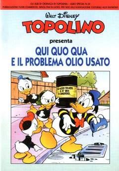 Copertina CRONACA DI TOPOLINIA ALBI SPEC n.24 - TOPOLINO QUI QUO QUA, CRONACA DI TOPOLINIA