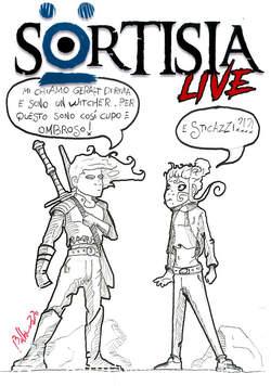 Copertina SORTISIA LIVE Blank Cover n. - SORTISIA LIVE - Cover a china, CRONACA DI TOPOLINIA