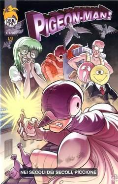 Copertina COMICS FACTORY n.20 - Pigeon-man! - Nei secoli dei secoli piccione, CYRANO COMICS