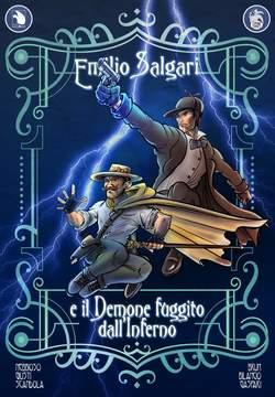 Copertina EMILIO SALGARI n.4 - EMILIO SALGARI E IL DIAVOLO FUGGITO DALL'INFERNO, CYRANO COMICS