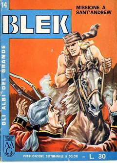 Copertina ALBI DEL GRANDE BLEK n.14 - ALBI DEL GRANDE BLEK        14, DARDO EDITORE