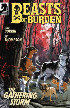 Copertina BEASTS OF BURDEN (M4) n.1 - The Gathering Storm, DARK HORSE COMICS