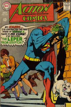 Copertina ACTION COMICS n.363 - The Leper From Krypton!, DC COMICS