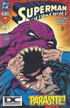 Copertina ACTION COMICS n.715 - Doc Parasite!, DC COMICS