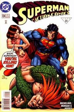 Copertina ACTION COMICS n.724 - Losing Brawl!, DC COMICS