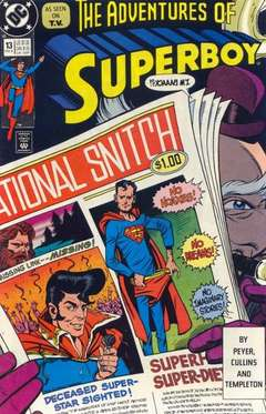 Copertina ADVENTURES OF SUPERBOY S22 n.13 - Untold Stories, DC COMICS