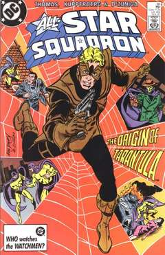 Copertina ALL STAR SQUADRON n.66 - The Origin Of Tarantula, DC COMICS