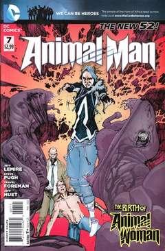 Copertina ANIMAL MAN 2011 n.7 - Animal Vs. Man, part one, DC COMICS