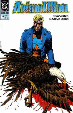 Copertina ANIMAL MAN S89 n.33 - I am the Man of Deep Ungodly Powers, DC COMICS