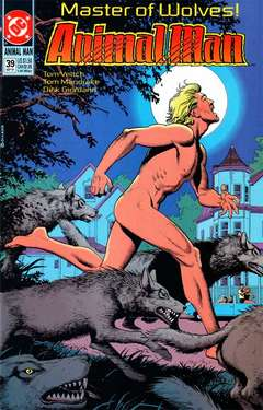 Copertina ANIMAL MAN S89 n.39 - Master of Wolves, DC COMICS