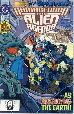Copertina ARMAGEDDON ALIEN AGENDA M4 n.1 - Days of Thunder Lizards, DC COMICS