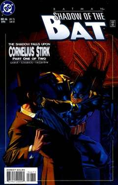 Copertina BATMAN SHADOW OF BAT 1992 n.46 - Cornelius Stirk, Part One of Two, DC COMICS