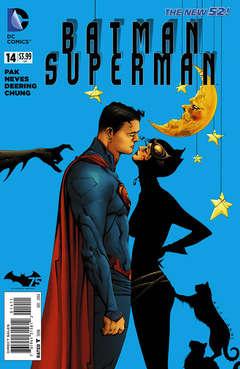 Copertina BATMAN SUPERMAN 2013 n.14 - Blank Slate, DC COMICS