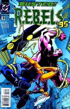 Copertina R.E.B.E.L.S 1994 n.3 - Brains, DC COMICS