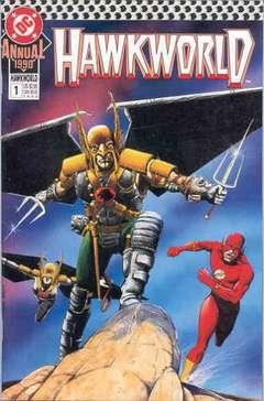 Copertina HAWKWORLD 1990 ANNUAL S3 n.1 - A Hawkman of Two Worlds, DC COMICS