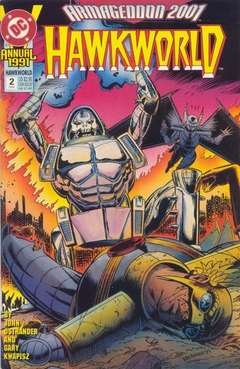 Copertina HAWKWORLD 1990 ANNUAL S3 n.2 - Racing Against Time, DC COMICS