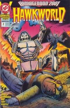 Copertina HAWKWORLD 1990 ANNUAL S3 n.2 - Racing Against Time, DC COMICS