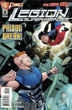 Copertina LEGION OF SUPERHEROES 2011 n.2 - Hostile World, DC COMICS