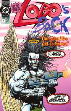 Copertina LOBO'S BACK M4 n.4 - The War In Heaven, DC COMICS