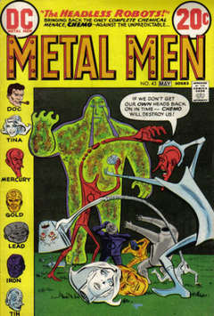 Copertina METAL MEN 1963 n.43 - The Headless Robots!, DC COMICS