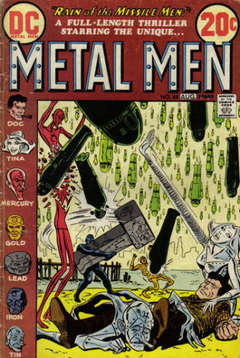 Copertina METAL MEN 1963 n.44 - Rain of the Missle Men!, DC COMICS