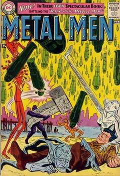 Copertina METAL MEN 1963 n.1 - Rain of the Missile Men!, DC COMICS