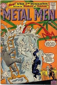 Copertina METAL MEN 1963 n.2 - Robots of Terror!, DC COMICS