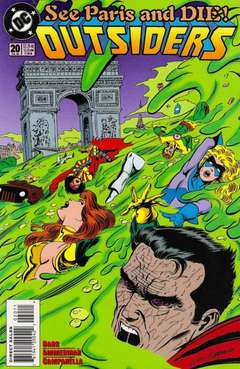 Copertina OUTSIDERS S24 1993 n.20 - Le Paree -- C'est Fini!, DC COMICS