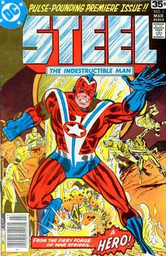 Copertina STEEL 1978 n.1 - From Hell Is Forged A Hero, DC COMICS