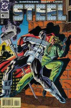 Copertina STEEL S52 n.4 - Bad Times, DC COMICS